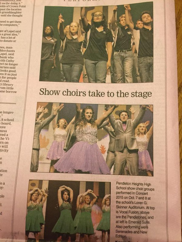 Serenade clipart show choir Twitter (@TimesPost) Newspaper Post retweet