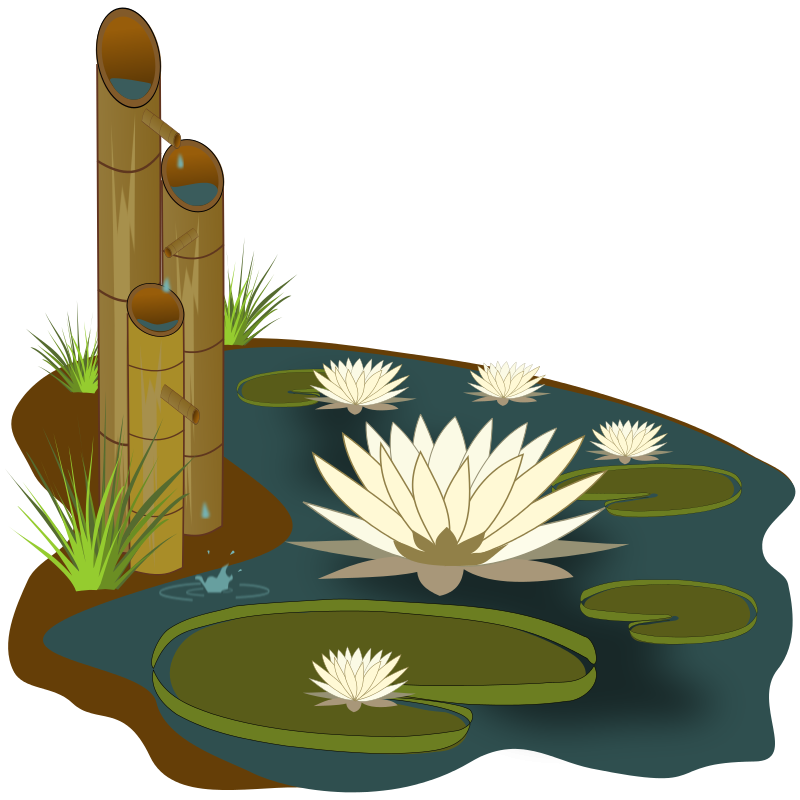 Reed clipart pond scene Pond  Free Art Clip
