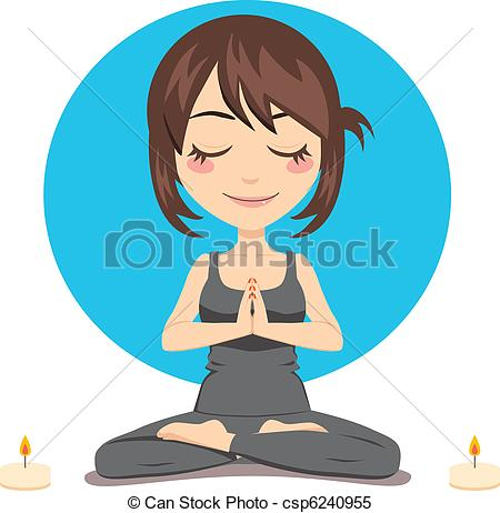 Serene clipart Csp6240955 Woman woman Relaxed