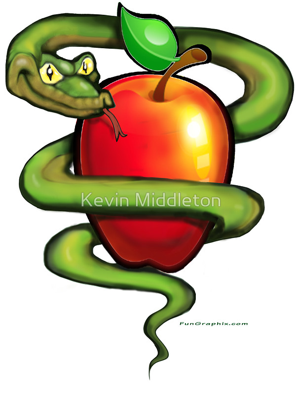 Serpent clipart simple cartoon Serpent Apple