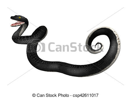 Serpent clipart black racer Of 3D isolated rendering Racer