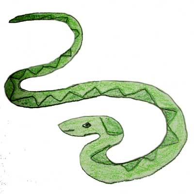 Smooth Green Snake clipart black and white Snakes Cartoon snake Cartoon free