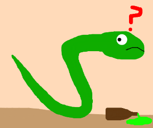 Serpent clipart confused Green drinks snekheck Confused beer