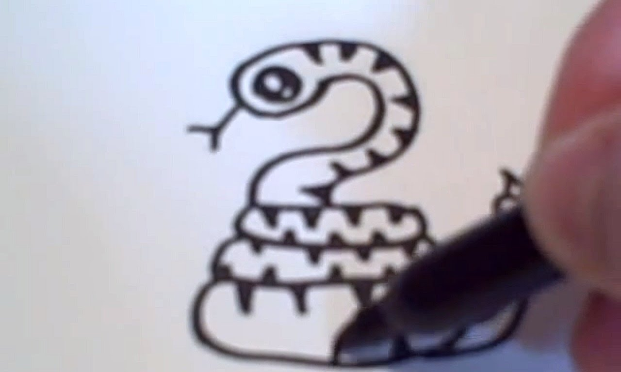 Serpent clipart easy cartoon Cartoon YouTube to Snake Draw