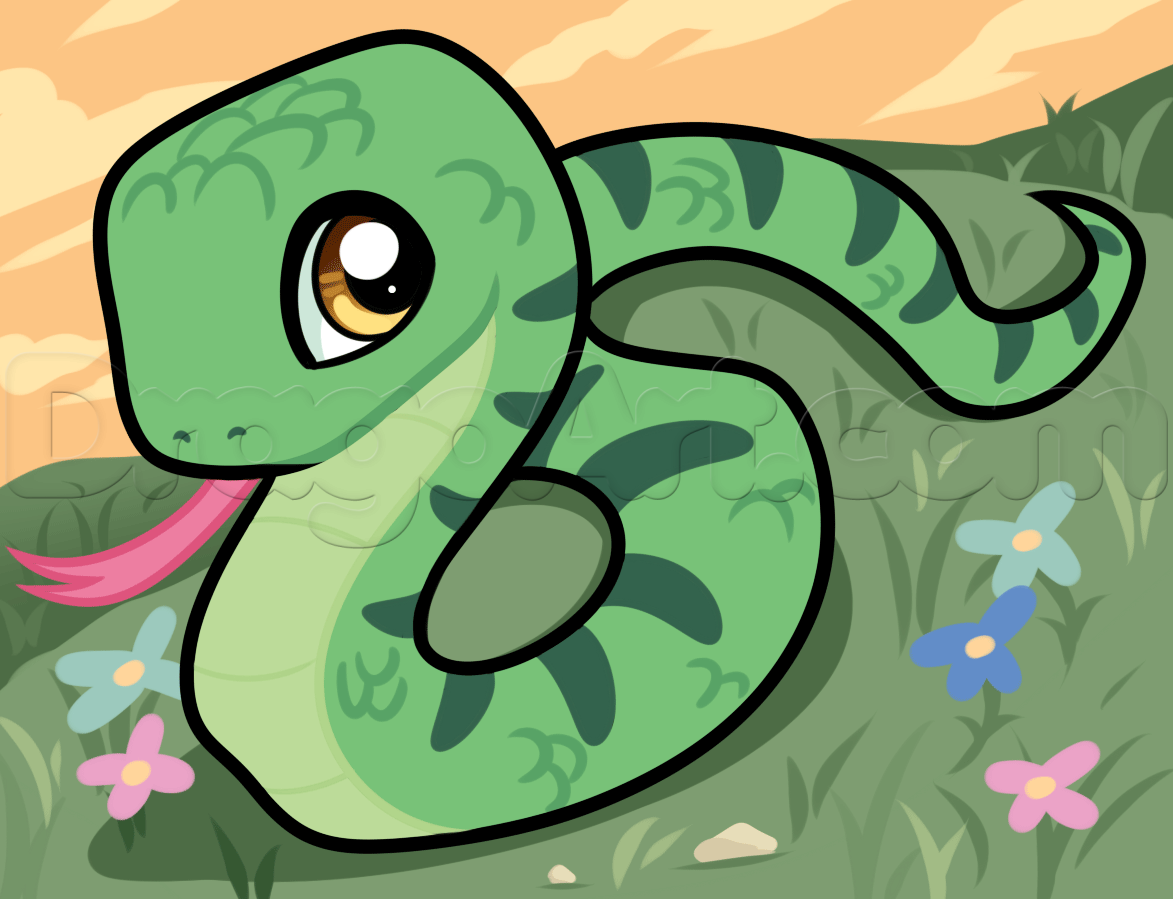 Drawn reptile chibi Step Reptiles Animals by draw