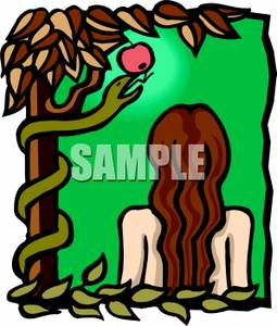Serpent clipart eve The Fruit The Holding Serpent