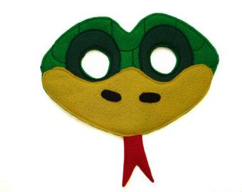 Serpent clipart face mask Mask Snake Animal Green Felt