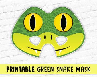 Serpent clipart face mask Snake Etsy Mask mask Halloween