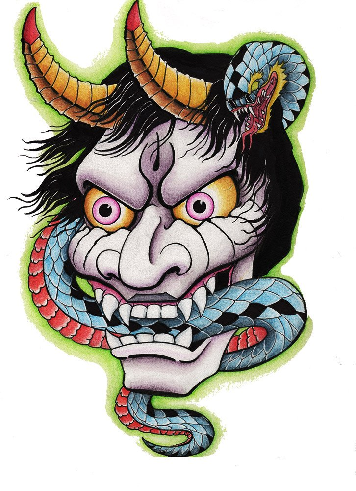 Serpent clipart face mask  piece #face Cole #demon