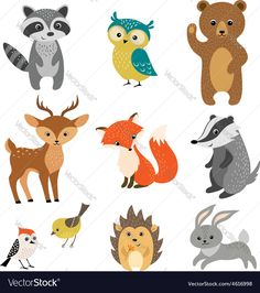 Serpent clipart forest animal Forest animals panda Vector fireflamenco
