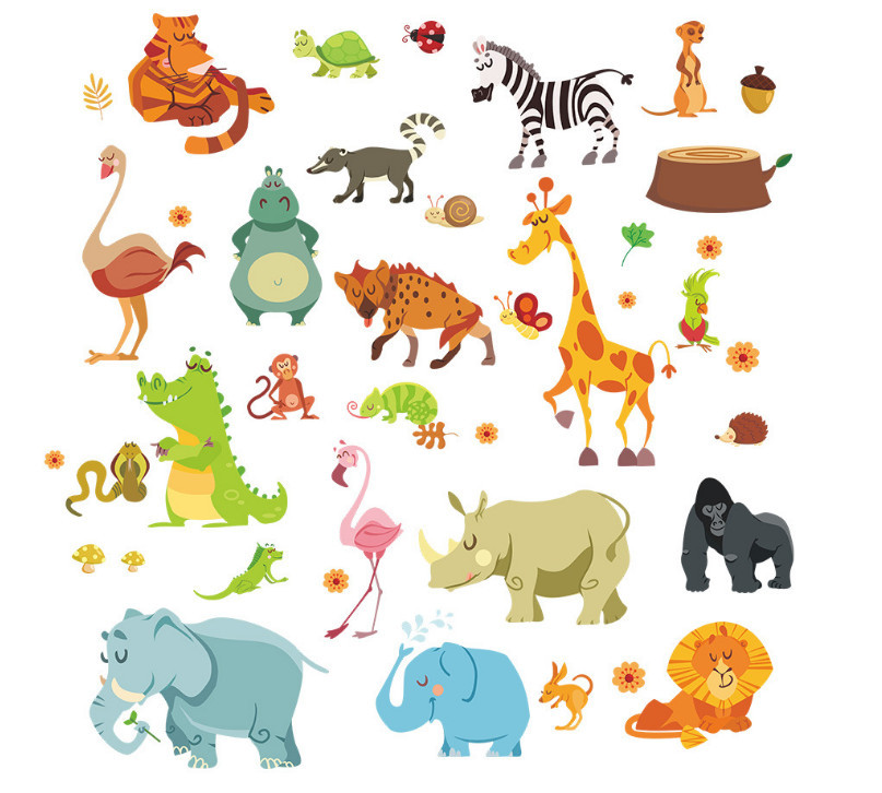Serpent clipart forest animal Jungle Forest nursery snake elephant