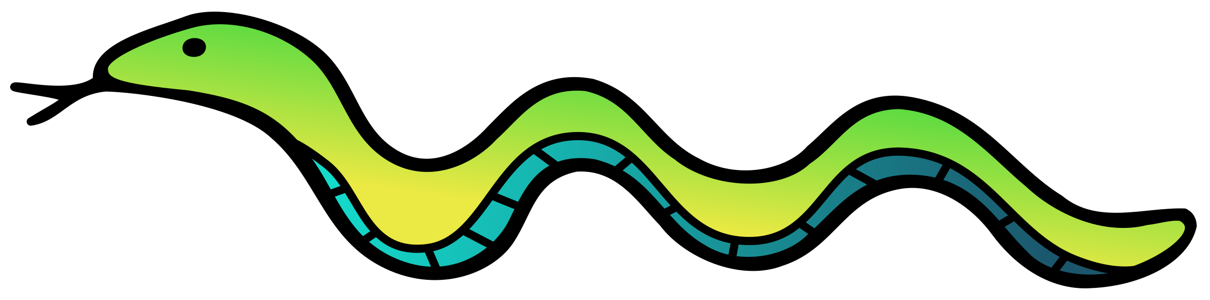 Drawn snake green Colour Clipart Snake Snake Colour