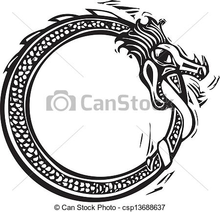 Serpent clipart spotty Viking Midgard Woodcut of Midgard