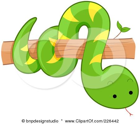 Tree Snake clipart cute baby snake #1
