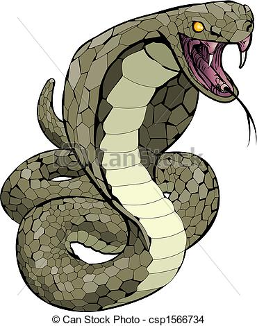 Serpent clipart little red Strike snake Vector about csp1566734