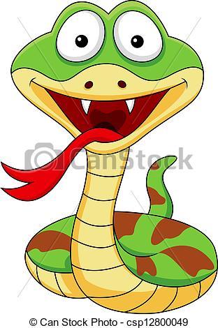 Serpent clipart serpiente Snake csp12800049 cartoon of Cute