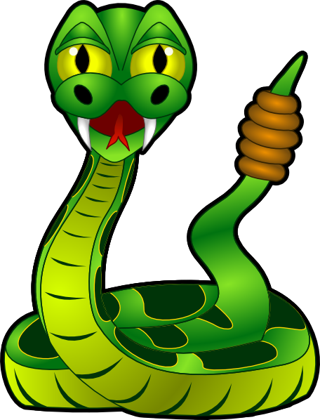 Serpent clipart simple cartoon Cartoon clipart art snake free
