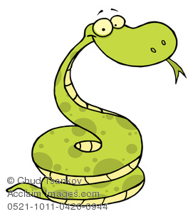 Serpent clipart simple cartoon Green Clipart of Image Snake