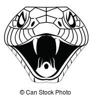 Serpent clipart snake head Graphics EPS art Snake 13