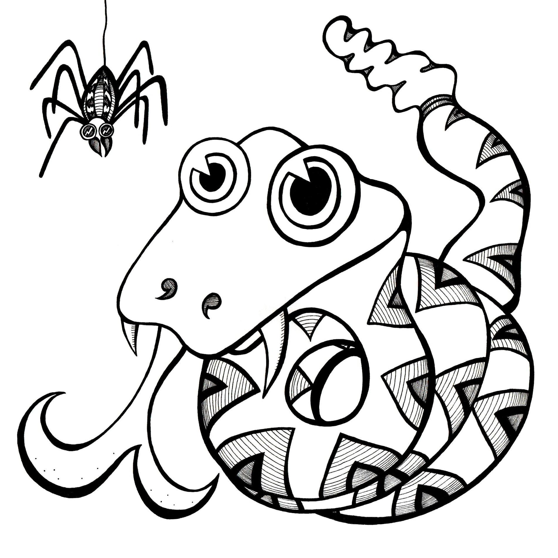 Serpent clipart spider Zone Cliparts Face Snake Face