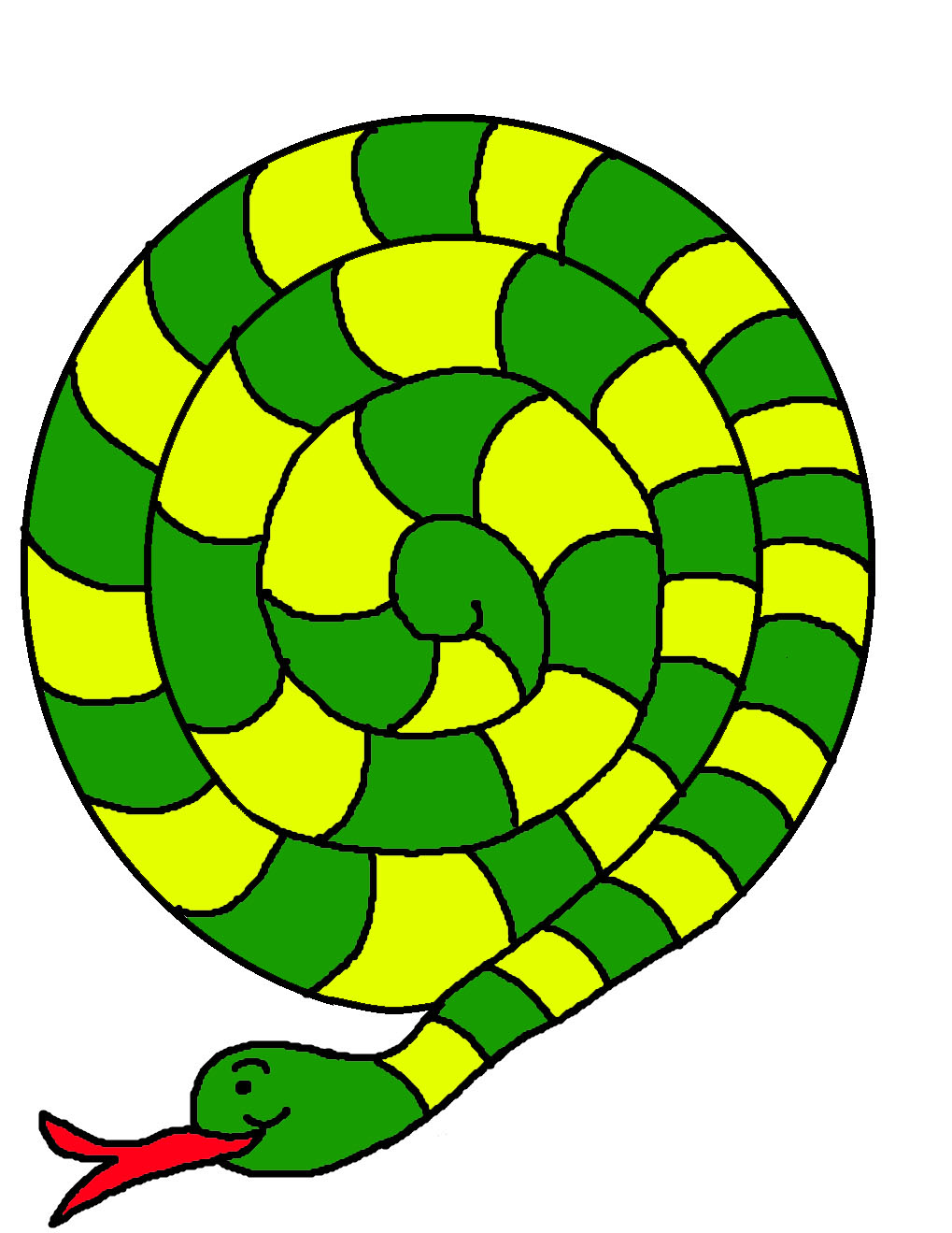 Templates  clipart snake #10