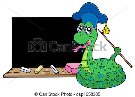 Serpent clipart teacher Snake with Stock Snake teacher