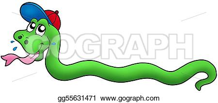Serpent clipart teacher Illustration Cartoon Cartoon baseball Stock