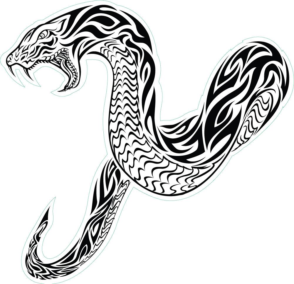 Rattlesnake clipart tribal #3