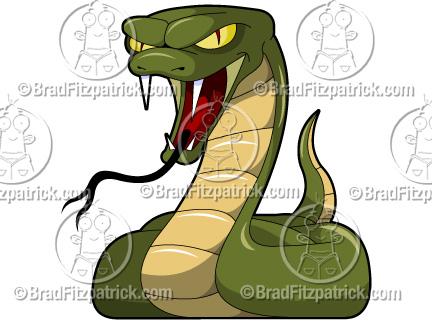 Serpent clipart viper snake  Graphics Mascot Logo Clipart