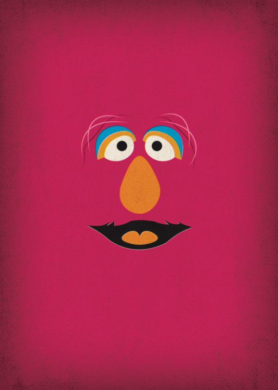 Sesam Street clipart telly monster Sesame Minimalist Street Character by