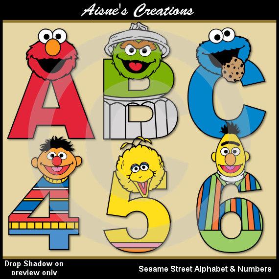 Sesame Street clipart alphabet Art clip Street  Numbers