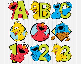 Sesame Street clipart alphabet Dxf png Etsy Sesame Sesame