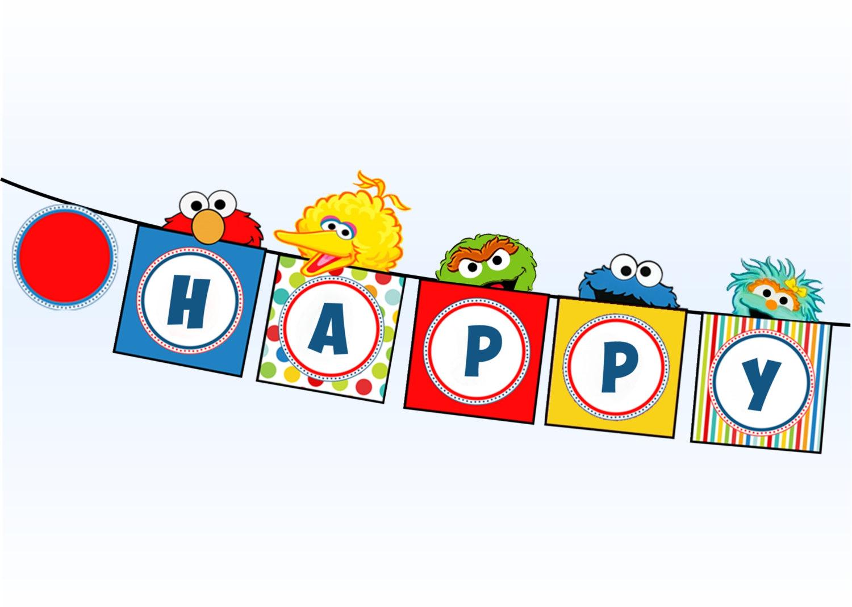 Cookie Monster clipart ernie Party Street Abby Oscar Banner
