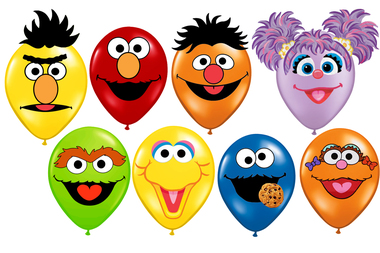 Sesame Street clipart balloon Faces Balloons Monster Balloons Cookie