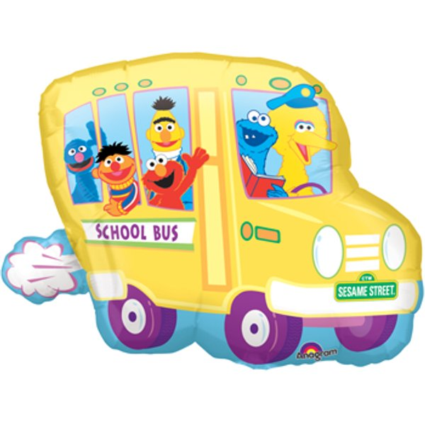 Sesame Street clipart bus Balloon sesame school bus Baker's