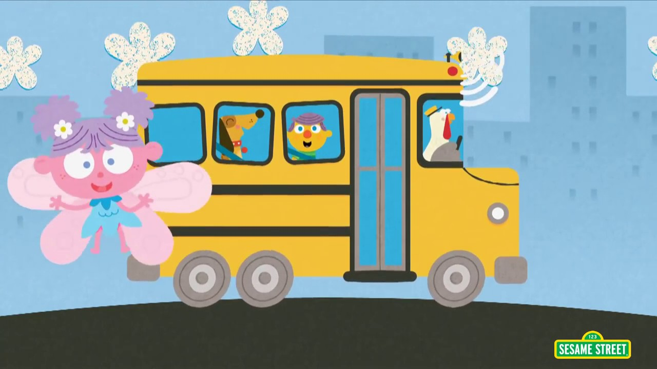 Sesame Street clipart bus On Sesame Street on the