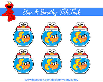 Sesam Street clipart dorothy & Fish ELMO Tank Party