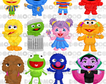 Sesame Street clipart head And Monster Etsy clipart Clipart