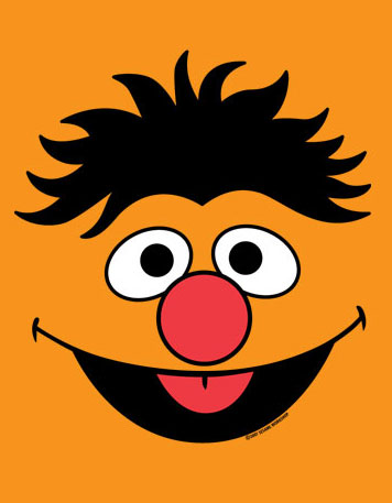 Sesame Street clipart head Face  face Birthday Ernie