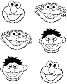 Sesame Street clipart head For by Parteestry Sesame Etsy