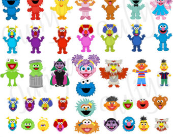 Sesame Street clipart head / png / Monsters street