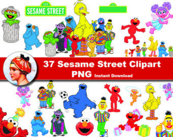 Sesame Street clipart head Instant Clipart 37x Graphic Sesame