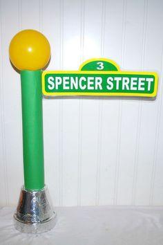 Sesame Street clipart light post Party Sign Sesame Pinterest