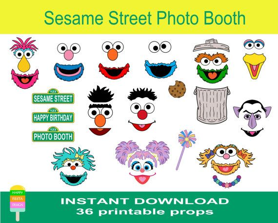 Sesam Street clipart photo booth prop Images Props–36 on call Photo