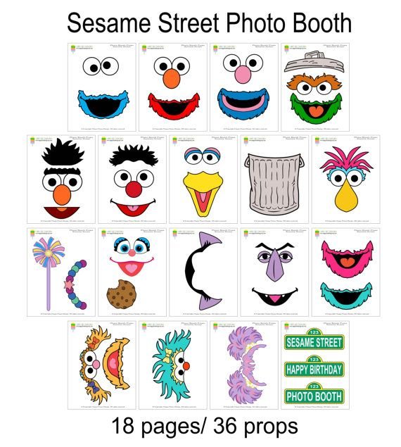 Sesam Street clipart photo booth prop On Props36 Photo booth on