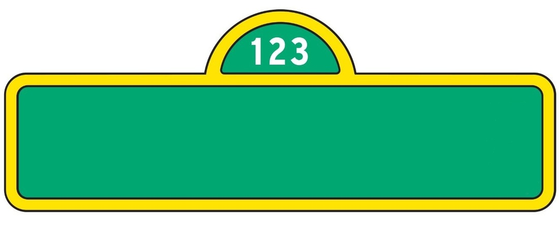 Sesam Street clipart street sign Collection Count Clipart Head Sesame