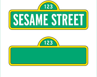 Sesam Street clipart street sign Etsy eps svg and only