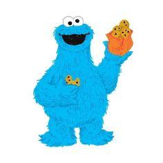 Sesam Street clipart telly monster York C Wallcoverings RMK2627GM Pinterest