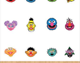 Sesam Street clipart telly monster Sesame party Street Cutouts/Sesame props/Sesame