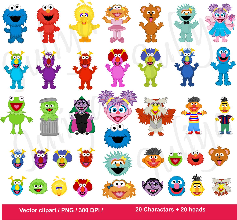 Sesam Street clipart telly monster Monsters / clipart / Monsters
